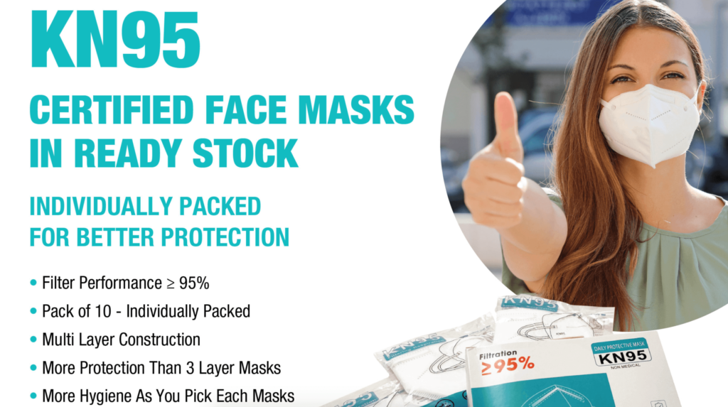KN95 Facemasks Provider in Dubai